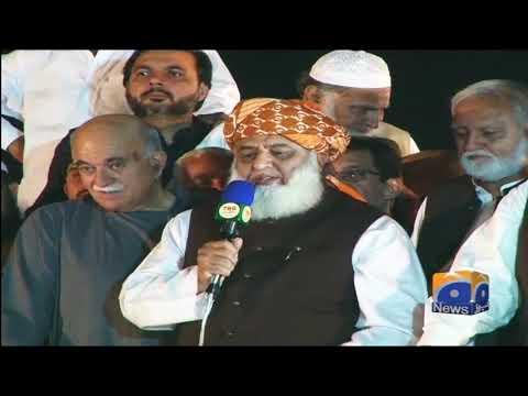 hume ishteyal dilaya tu 24 ghantay mein shikast khao gay. Maulana Fazal-ur-Rehman