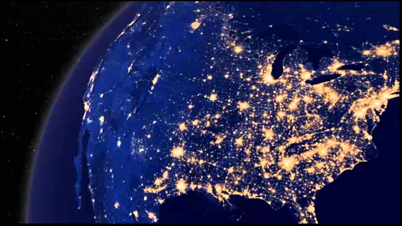 La Tierra De Noche América Del Sur América Del Norte Europa Video Hd Nasa 2012 Youtube