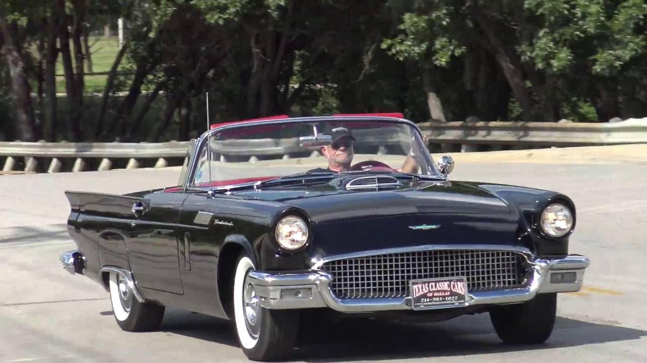 Road test tour 1957 ford thunderbird convertible classic youtube
