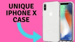 Spigen Crystal Clear Glitter Case for iPhone X
