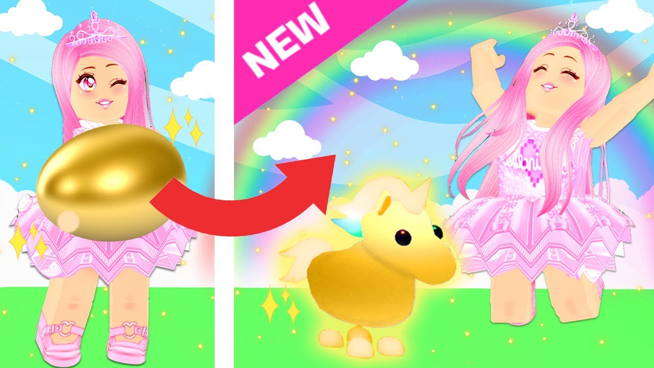 Trying To Hatch A Golden Unicorn In Adopt Me Brand New Adopt Me