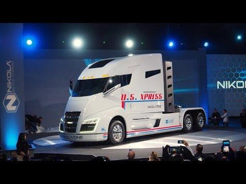 Nikola One Hydrogen Semi Truck's Cozy Yet Futuristic Interior Rendered