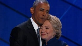 Hillary Clinton joins President Obama on stage at DNC by : CNN