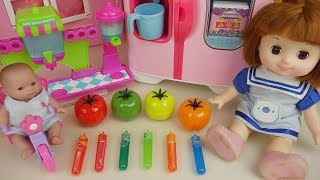 Baby Doll soda tomato and fruit juice maker play Baby Doli