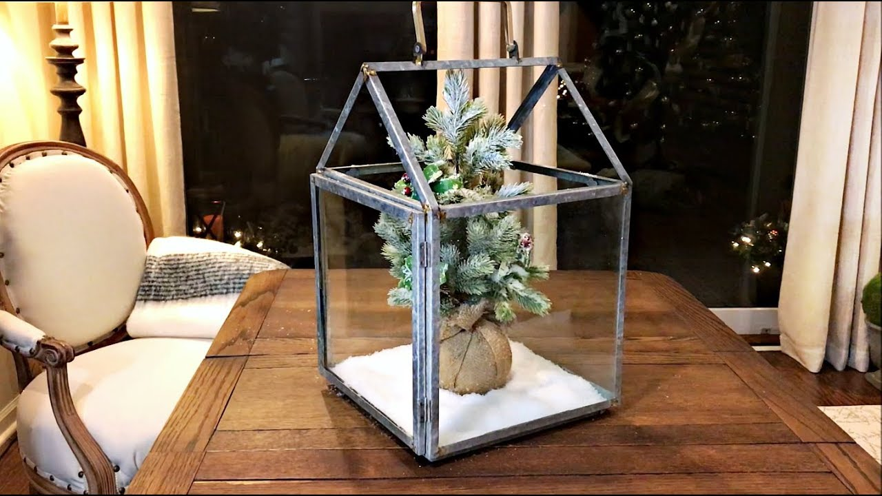 Incredibly Simple Christmas Lantern Decor - Target Clearance Find ...