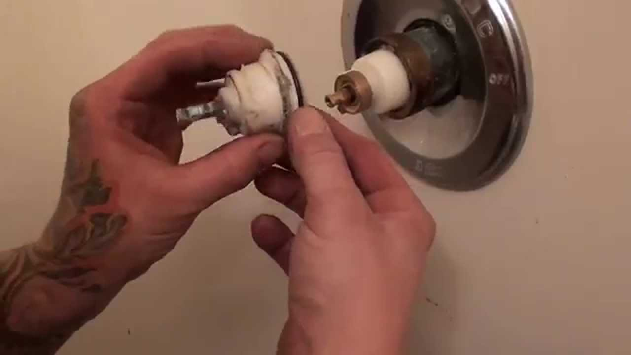 how to fix a leaking delta monitor tub shower faucet tutorial - YouTube