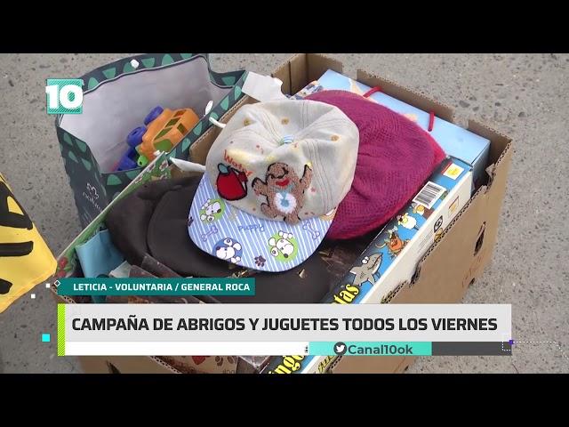#Noticias10 | Solidaridad: campaña de abrigos y juguetes en Roca