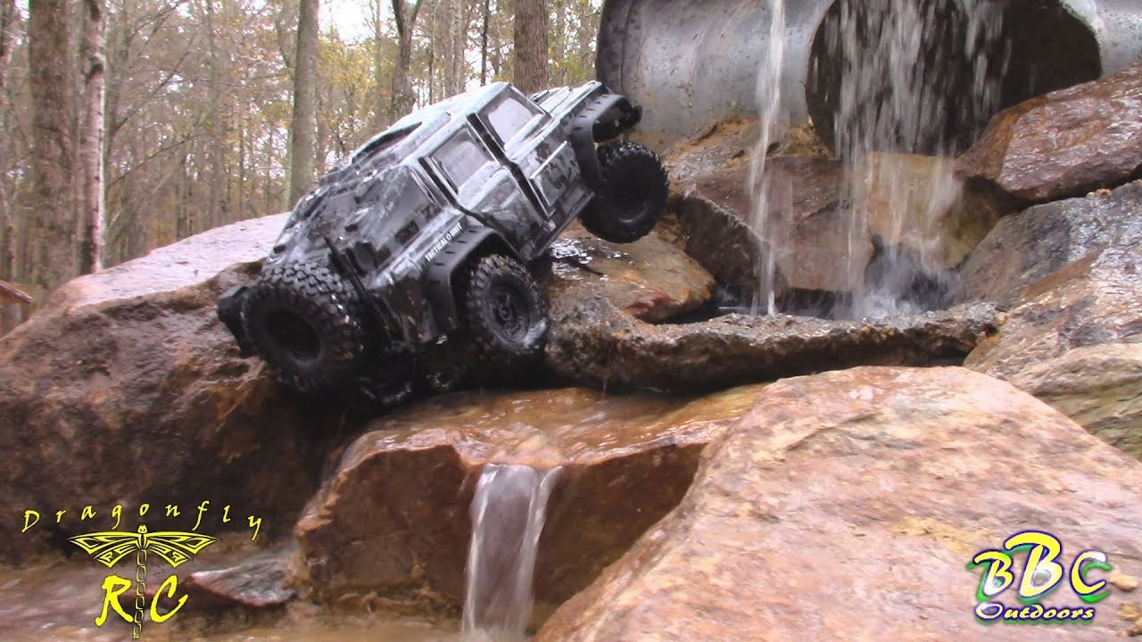 Traxxas TRX-4 Tactical Unit 1/10 Scale Crawler - Unbox & Drive/ Waterfall  Test