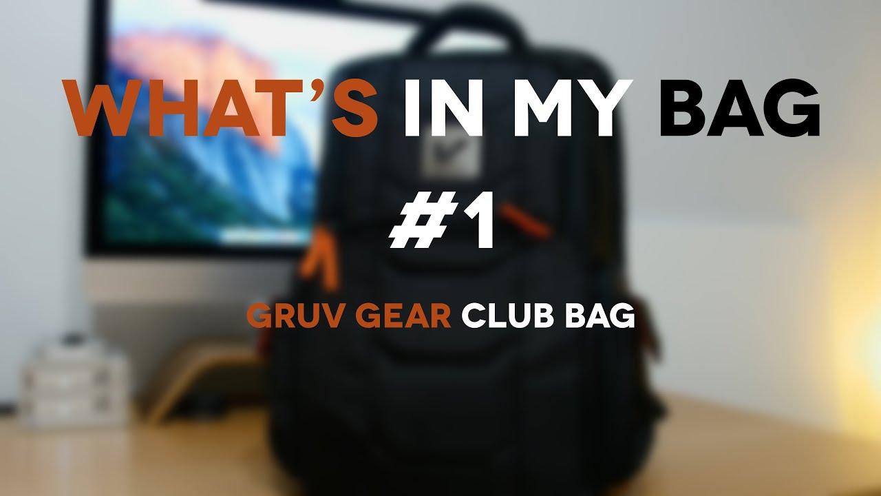 d2ab73871759 Gruv Gear Club Bag (What's In My Tech Bag #1)
