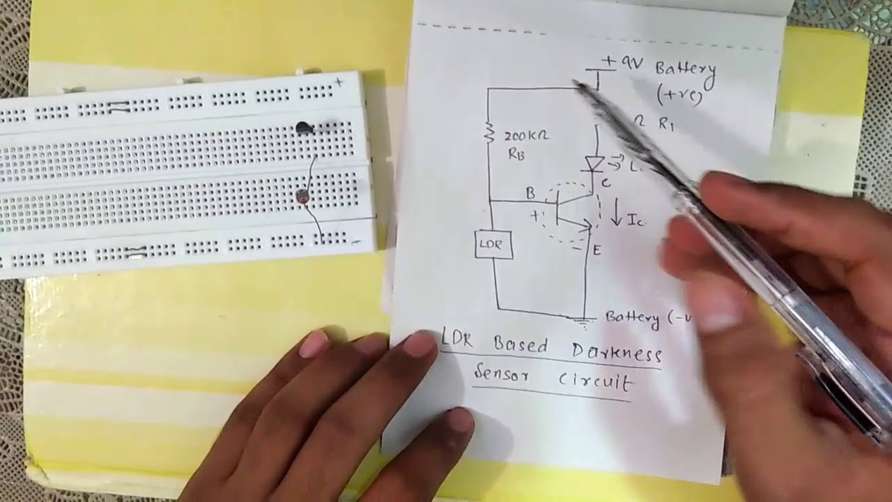 Ldr Based Darkness Sensor Circuit Youtube Transistors Light Switch Using Electrical Engineering