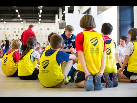 Community: Youngsters shine at Ashton Gate during Celebration of Sport Week.