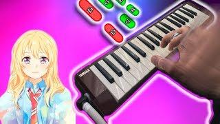 OP shigatsu wa kimi no uso 🎹 MELODICA tutorial notas hikaru nara (melodica♣chan)