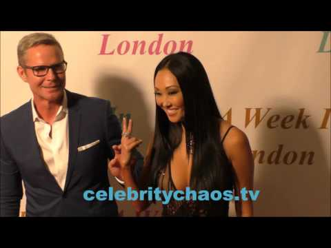 Actress Candace Kita smiles for paparazzi walking A Week in London red carpet
