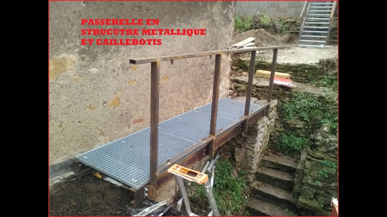 Ossature Métallique Pour Terrasse Bois metal walkway. manufacture of a walkway in upn 140 metal structure and  grating. diy
