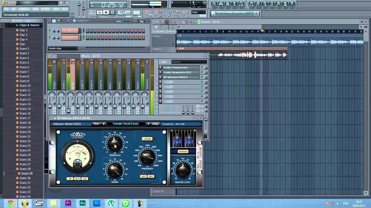 Fl Studio 1 - подскажите плагины для обработки вокала?