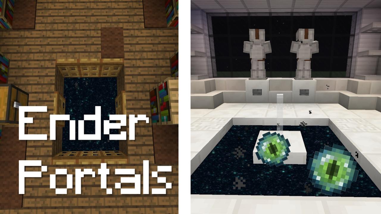 5 ender portal designs in minecraft youtube for Portale design