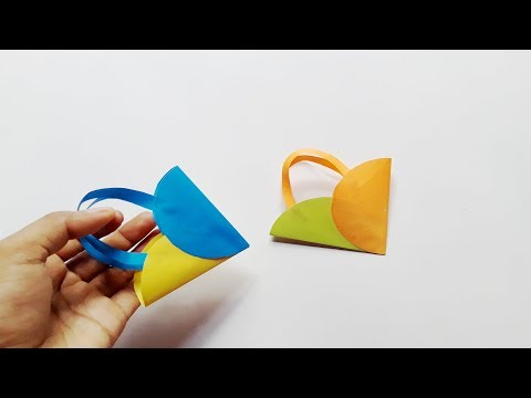 DIY Mini Gift Bag | How to make an easy & simple paper bag at indoor | Beautify Crafts