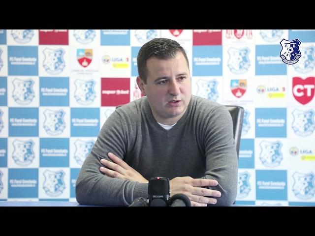Conferință de presă după partida FC Farul - Turris Turnu Magurele