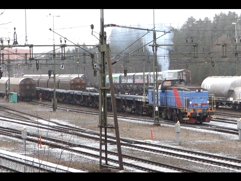 ► Trainspotting - Heavy shunting in Luleå, Sweden [8.11.14]