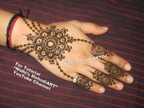 Henna Mehndi S : Easy diy ornament henna mehndi designs tutorial for back hand