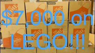 I SPENT $7,000 ON LEGO FOR RESALE!!! GIGANTIC HAUL OLD STOCK SETS!