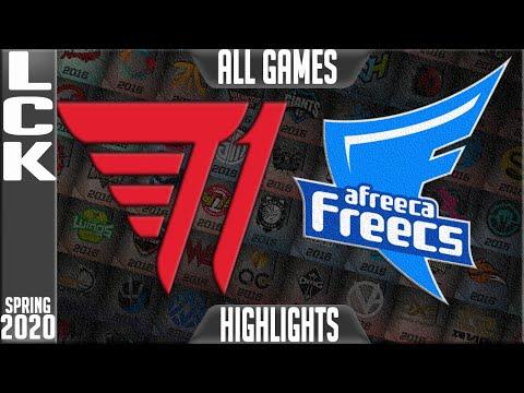 T1 vs AF Highlights ALL GAMES | LCK Spring 2020 W9D1 | T1 vs Afreeca Freecs