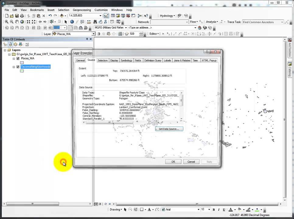 Define Projection and/or Project | a GIS Video Tutorial by Gregory Lund