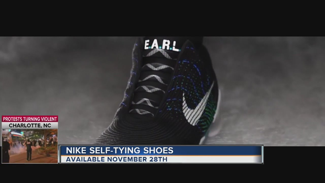 Nike self-tying shoes available Cyber Monday