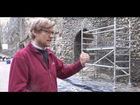 Winter Conservation Works At Reading Abbey