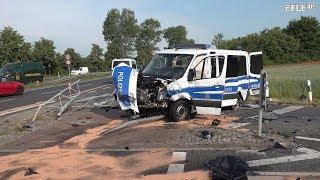 Polizeifahrzeug verunfallt auf Einsatzfahrt Leipzig-Lindenthal [30.05.2018]