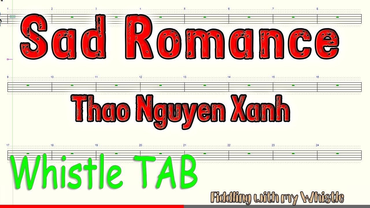 Sad Romance - Thao Nguyen Xanh - Tin Whistle - Play Along Tab Tutorial