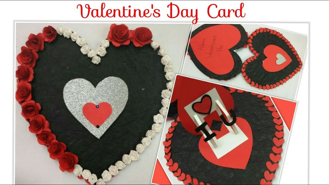 Diy Valentine Cards Handmade Heart Card Heart Shaped Cards Pop Up
