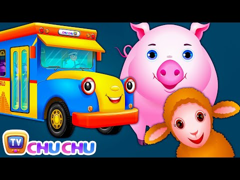 Wheels On The Bus | Wonders Of The World For Kids | Learn Farm Animals and Animal Sounds | ChuChu TV