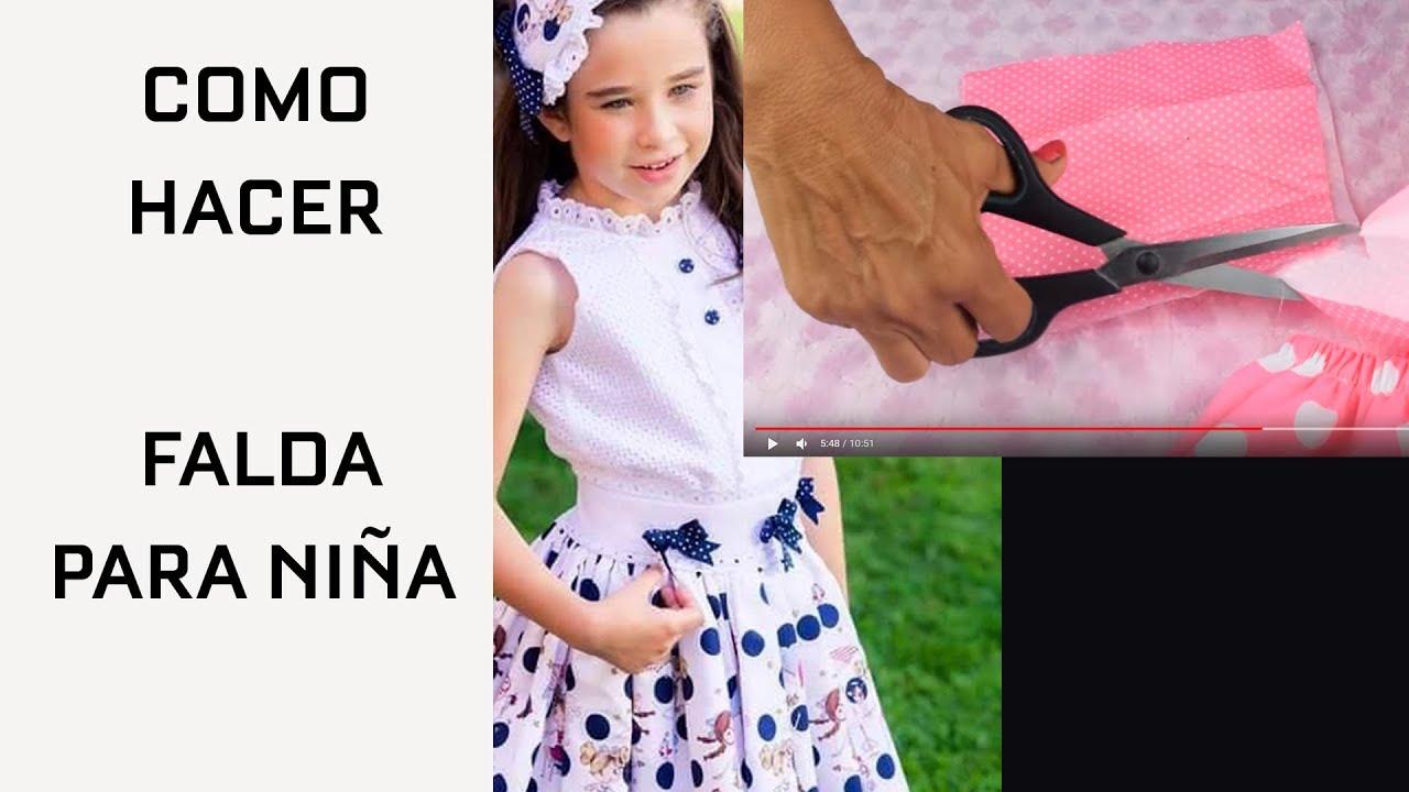 000a32683 COMO HACER UNA FALDA PARA NIÑA FÁCIL Y RÁPIDO - YouTube