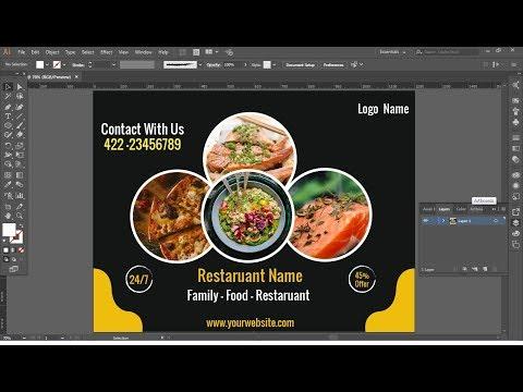 illustrator tutorial | Social media Food Banner Design thumbnail