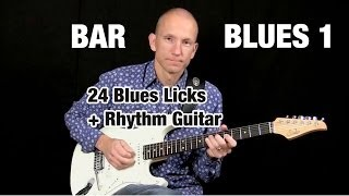 Learn 24 Reusable Blues Licks - Bar Blues 1