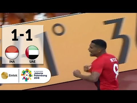 Goal Beto Goncalves - Sepak Bola Putra Indonesia (1) vs (1) United Arab Emirates | Asian Games 2018