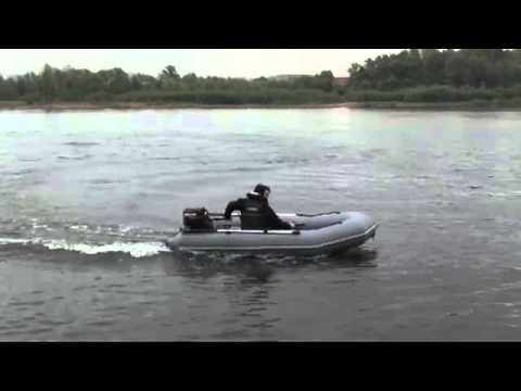 Ходовые испытания и видео Лоцман М-340 с мотором 15 л.с.