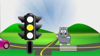 Бегемот Мотя учиться переходить дорогу |  Развивающий мультик для детей