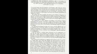 Amalgamation Speech Of The Southern And Northern Nigeria In 1914 By F. Lugard.