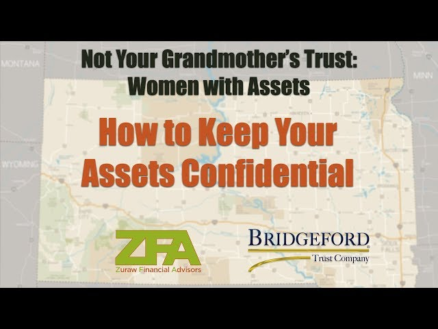 How to keep your Assets Confidential