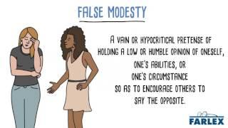 false modesty