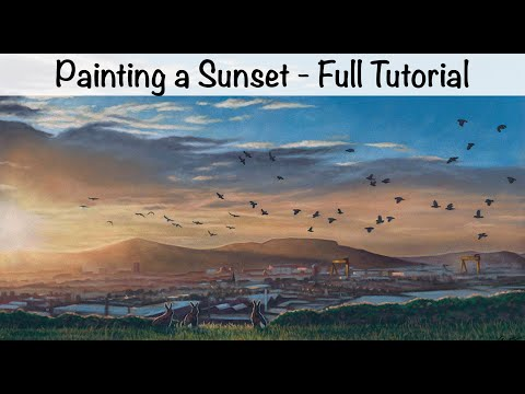 How to Paint a Sunset Sky: Pastel Tutorial 6