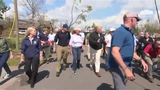 President Trump and the First Lady Tour the Lynn Haven Community