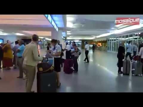 Aéroport de Djerba Arrivée du 1er vol de la compagnie