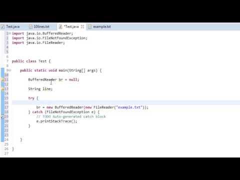 Java - I/O - BufferedReader