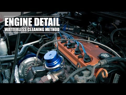 Engine Detail - Safe Method On How To Clean Engine Without Water On Turbo Honda Accord