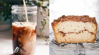 Oatmeal Cookie Iced Coffee + Vegan Cinnamon Loaf Recipe