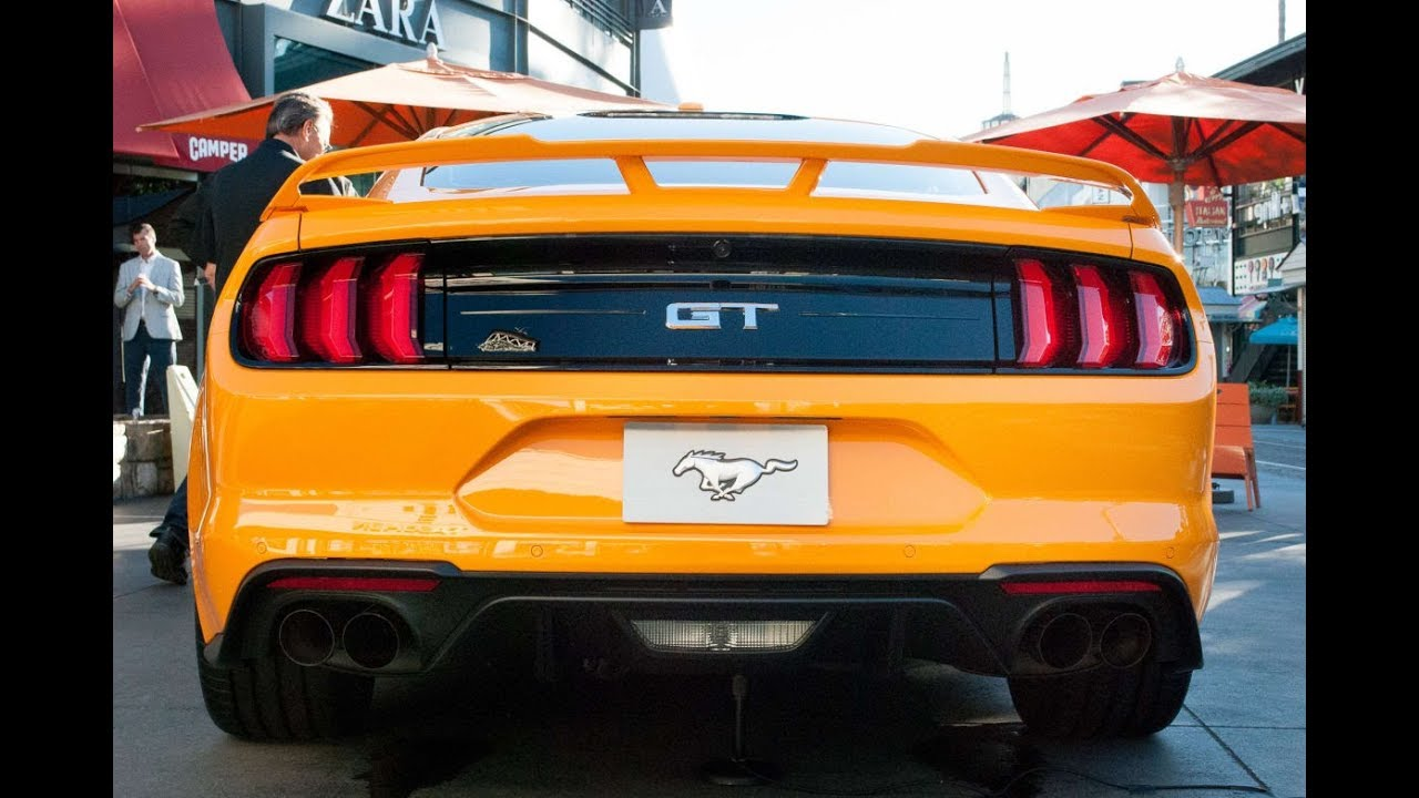 2018 ford mustang gt exhaust sounds quiet sport track
