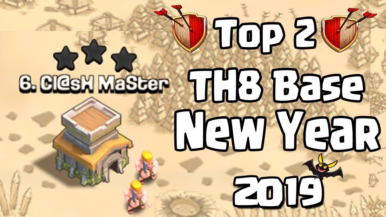 Top 2 Th8 War Base 2019 Anti 3 Star Town Hall 8 Th8 War Base